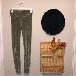 Army Green Velvet PINK leggings